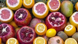 Orangen, Zitronen und Granatäpfel